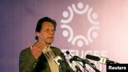 FILE - Pakistan's Prime Minister Imran Khan in Islamabad.