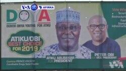 VOA60 Afirka: A Najeriya, Dan Takarar Babbar Jam'iyyar Adawa Ta PDP, Atiku Abubakar Ya Fara Yakin Neman Zabe