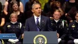 Obama Dallas'taki Anma Töreninde Konuştu