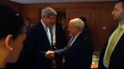 ظریف و کری در داووس سویس مذاکرات اتمی را ادامه می دهند
