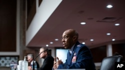 Charles Brown, Jr., nominated for reappointment to the grade of General and to Chief of Staff of the U.S. Air Force, testifies during a Senate Armed Services nominations hearing, May 7, 2020, on Capitol Hill in Washington.