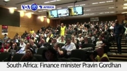VOA60 Africa - S. Africa raises taxes, cuts government spending to tackle the country's economy crisis