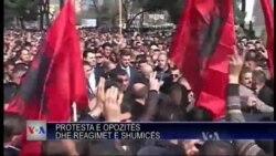 Protestë e opozitës në Tiranë