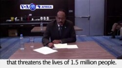 VOA60 Africa - Somalia's President Appeals for Famine Assistance