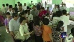 缅甸选民踊跃投票 反对党有可能获胜