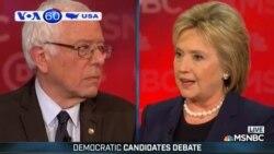 Clinton, Sanders đấu khẩu quyết liệt trong cuộc tranh luận 1-1 (VOA60)