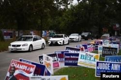 Đường phố Houston, Texas trước ngày bầu cử.
