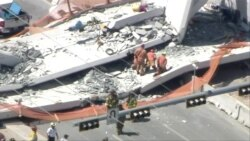 Florida Pedestrian Bridge Collapses, Crushing Cars