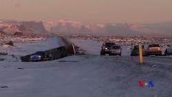 冰島載中國遊客巴士翻車1死12傷 (粵語)
