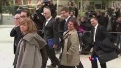 加泰羅尼亞領導人在西班牙出庭