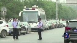 """""""709 大抓捕""""被捕人士妻子北京抗议"""
