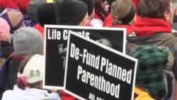 美国民众聚集华盛顿举行年度反堕胎大游行