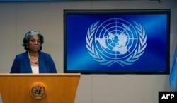 린다 토머스-그린필드 유엔주재 미국대사.