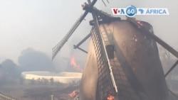 Manchetes africanas 19 Abril: África do Sul - incêndio obriga a evacuação na Cidade do Cabo