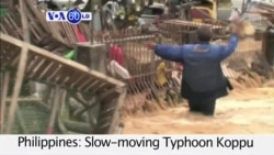 VOA60 World - 11 Dead as Typhoon Koppu Hits Philippines