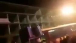 فیلم ارسالی منتسب به آبیک| بسیجی شعار الله اکبر میدهد، واکنش مردم را ببینید