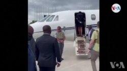 Premye Da m nan Martine Moise retounen ann Ayiti pou l antere prezidan Moise ki mouri asasinen