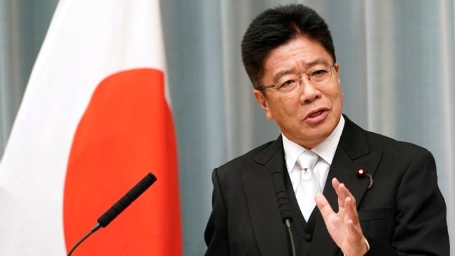 资料照:日本内阁官房长官加藤胜信(Katsunobu Kato)