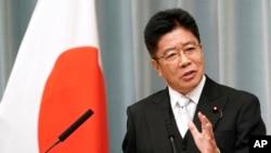 Katsunobu Kato,Kepala Sekretaris Kabinet Jepang, mengatakan Jepang tetap berkomitmen untuk memperkuat hubungan lebih jauh dengan Uni Eropa dan Inggris. (Foto: AP)