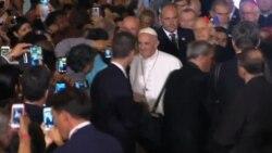 Papa Francisco se reúne con indigentes
