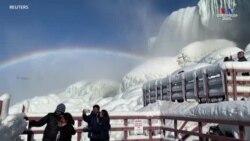 Նիագրա ջրվեժը պատվել է սառույցով