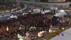 南韓民眾集會支持彈劾朴槿惠總統