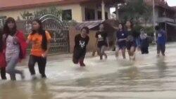 ریزش باران شدید و سیل در مالزی