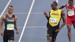 Rio 16- Usain Bolt and Andre De Grasse