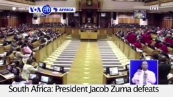 VOA60 Africa - South African President Zuma Survives Impeachment Vote