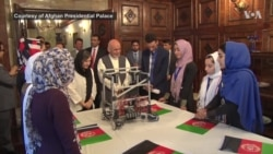Officials Welcome Home Afghan Girls Robotic Team in Kabul