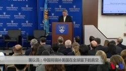 美议员:中国将填补美国在全球留下的真空