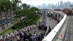 2015-04-05 美國之音視頻新聞:支聯會清明節悼念六四亡魂