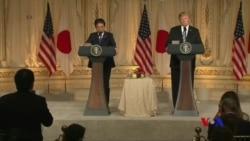 川普與安倍兩天會談未達貿易協議 (粵語)