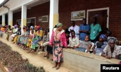 Congolese patients wait to receive medical attention from Dr. Denis Mukwege, at the Panzi Hospital in Bukavu, South Kivu Province in the Democratic Republic of Congo, Oct. 5, 2018.