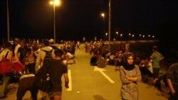 Migrants Avoiding Hungary Stream to Croatia