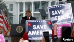 U.S. President Donald Trump holds a rally to contest the certification of the 2020 U.S. presidential election results by the U.S. Congress in Washington, Jan. 6, 2021.