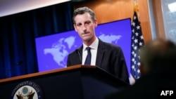 ند پرایس، سخنگوی وزارت خارجه آمریکا در جریان کنفرانس خبری روز دوشنبه