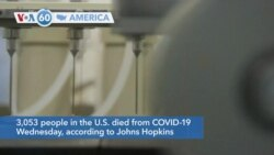 VOA60 America - 3,053 people in the U.S. died from COVID-19 Wednesday