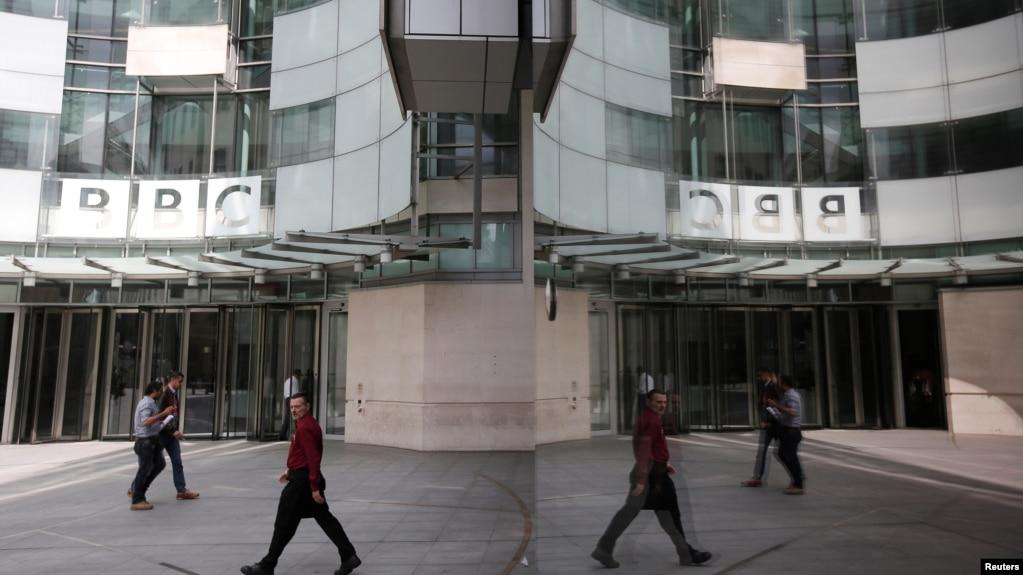 英国伦敦英国广播公司总部入口(photo:VOA)