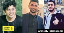 از چپ به راست: سعید تمجیدی، محمد رجبی و امیر حسین مرادی