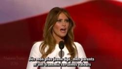 Melania Trump accusée de plagier Michelle Obama