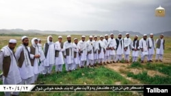 FILE - Taliban released pictures of the 20 freed men they identified as Afghan forces, April 12, 2020. (Courtesy Taliban)