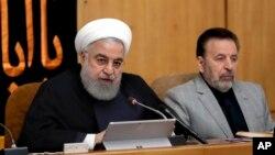 Tổng thống Hassan Rouhani phát biểu tại cuộc họp nội các ở Tehran, Iran, ngày 4/9/2019.