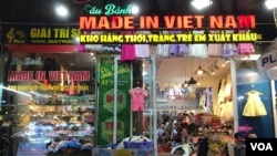 "FILE - A shop in Vietnam sells ""Made in Vietnam"" goods."