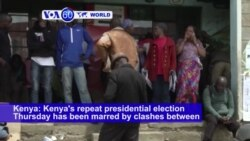 VOA60 World PM - Lower Voter Turnout, Clashes Mark Kenya's Presidential Poll Re-run