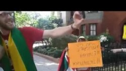 Zimbabweans Protest At Zim Embassy in USA