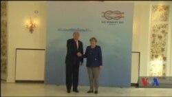 Дональд Трамп зустрівся із канлеркою Німеччини Анґелою Меркель. Відео