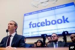 Mark Zuckerberg akihojiwa na Kamati ya Huduma za Fedha ya Baraza la Wawakilishi Capitol Hill, Washington, Oct. 23, 2019.