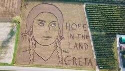 Portreti i aktivistes Greta Thunberg