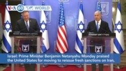 VOA60 Addunyaa - Israel: Prime Minister Netanyahu praised U.S. support for new sanctions on Iran
